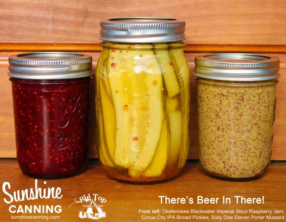 Sunshine Canning | Beer Infused Mustard, Pickles, Jams