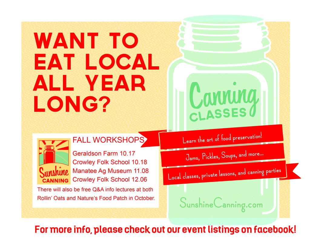 sunshine canning | fall 2014 classes