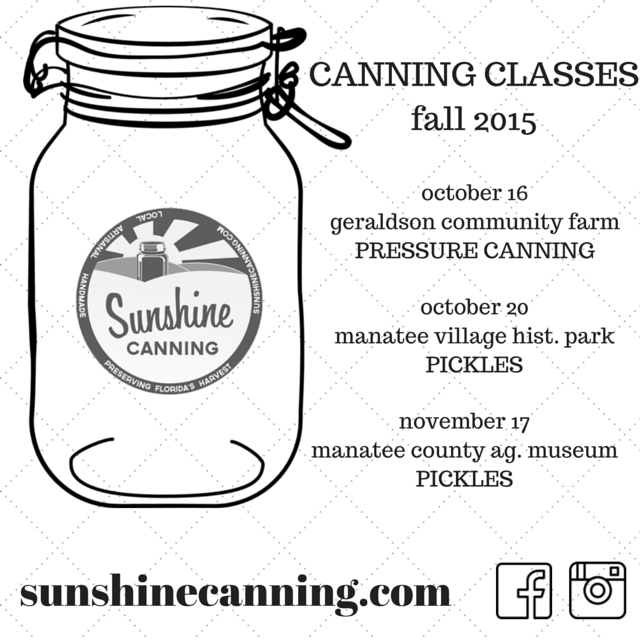 sunshine canning | 2015 fall