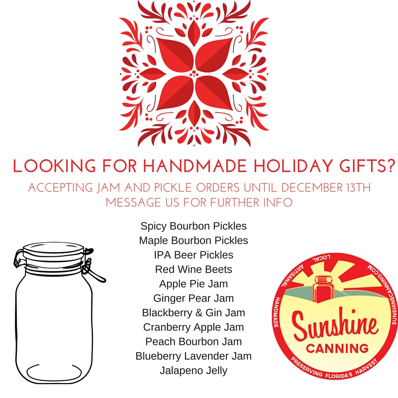 Accepting holiday orders until December 16th